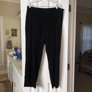 Chico's Size 2 (Misses 12/14) Black Velvet Pants